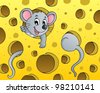 Mouse theme image 1 - vector illustration. - stock vector