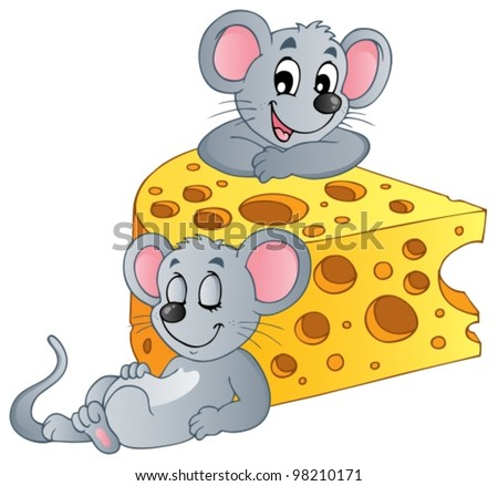 Mouse theme image 2 - vector illustration. - stock vector