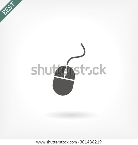 mouse  .Vector icon 10 EPS