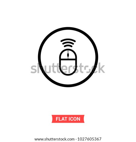 Mouse Vector Icon Wireless Mouse Symbol Stock Vector 1027605367 ...