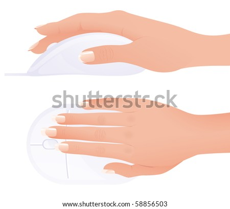 Mouse, vector illustration - stock vector