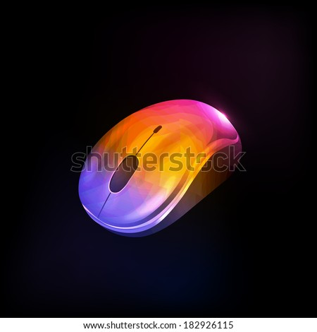 Mouse Vector illustration of a icon - stock vector