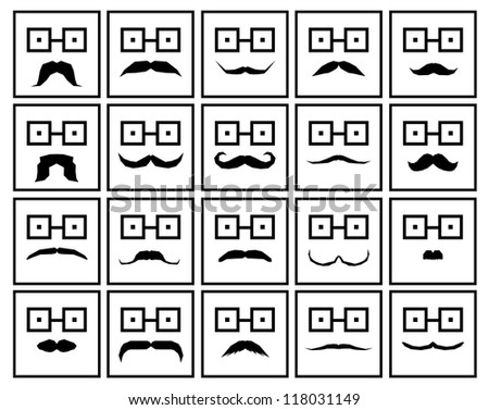 moustache - stock vector
