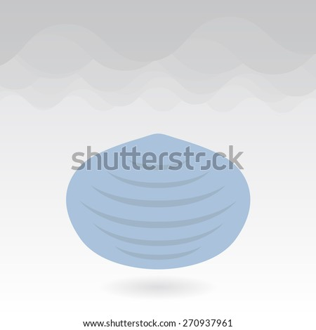 Mouth mask against air pollution and smog - stock vector