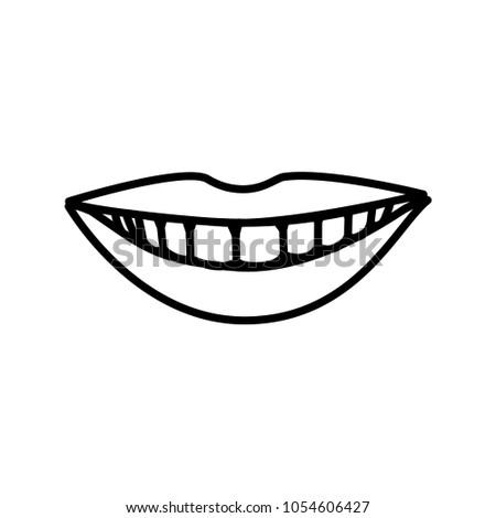 Mouth Smile Teeth Vector Template Stock Photo (Photo, Vector ...