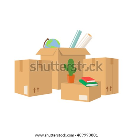 Move service box full vector illustration.