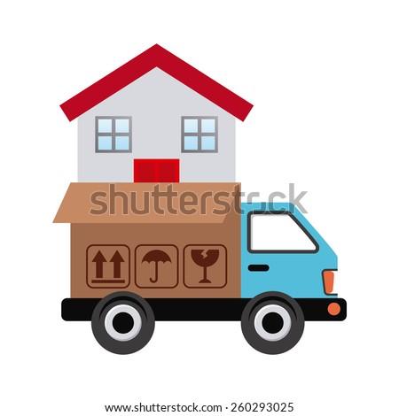 move service design, vector illustration eps10 graphic  - stock vector