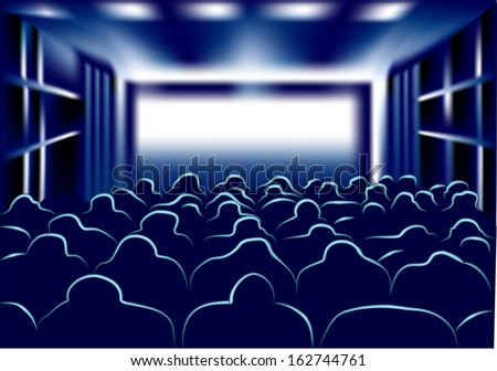 movie and theater - stock vector