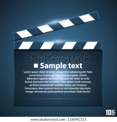 Movie board slapstick - stock vector