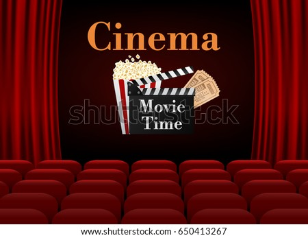 Movie cinema poster design vector template stock vector 650413267 movie cinema poster design vector template banner movie time toneelgroepblik Choice Image