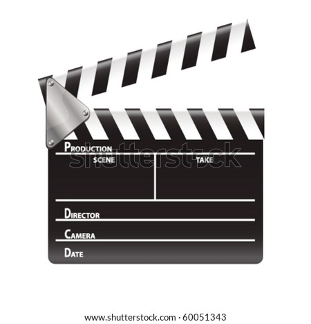movie clap - stock vector
