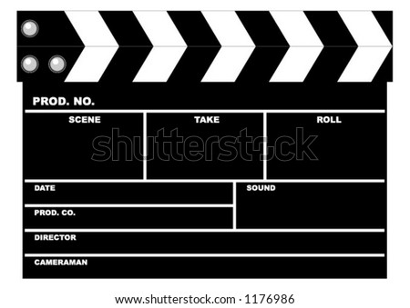 movie clapboard– vector – Add your text. Scalable. Change the colors as you wish