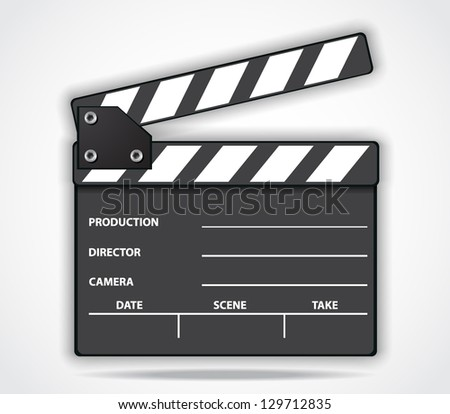 Movie Clapper Board - stock vector