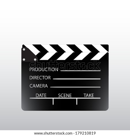 Movie clapper board. Vector illustration. - stock vector