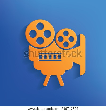 Movie design on blue background,clean vector - stock vector