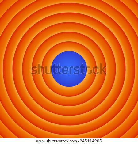Movie end abstract background - stock vector