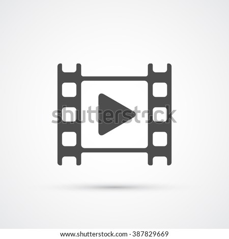 Movie film play icon. Vector illustration - stock vector