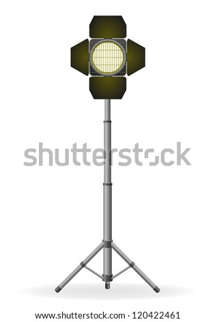movie floodlight vector illustration isolated on white background
