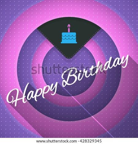 Movie Frames Style Happy Birthday Design, Vector Greeting Card - stock vector