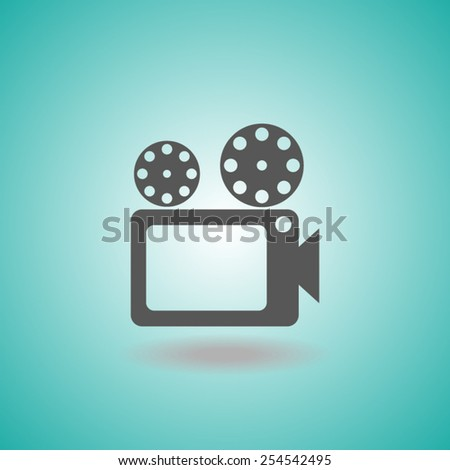 movie icon cinema sign - stock vector