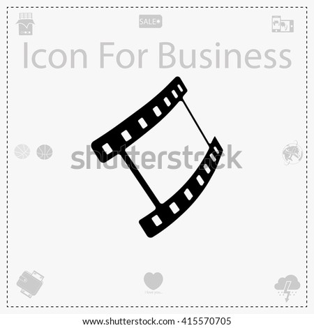Movie icon. Simple black vector symbol. Logo for web. Image for business.