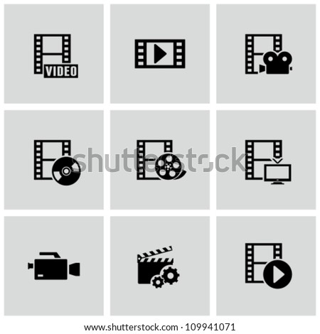 Movie icons - stock vector