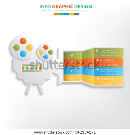 Movie info graphic design. Clean vector - stock vector