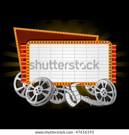 Movie marquee - stock vector