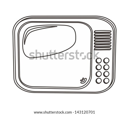 movie media television outline icon - stock vector