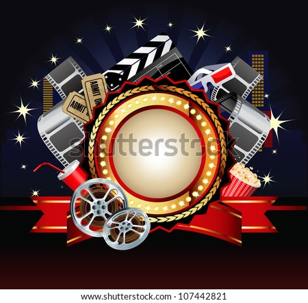 Movie or film theme composition. - stock vector