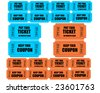Movie or film Tickets with coupons - stock photo