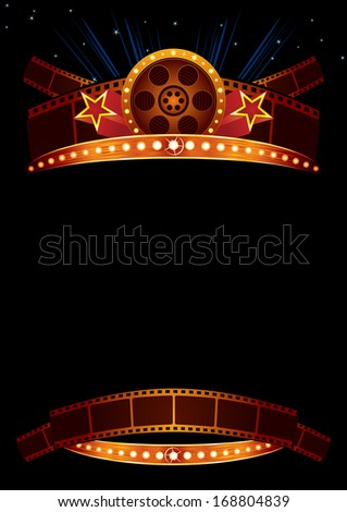 Movie poster - stock vector