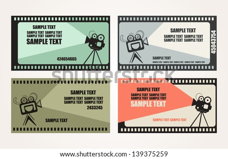 movie projector with space for text. vector illustration - stock vector