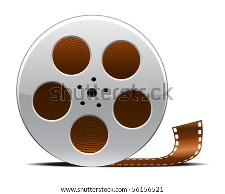Movie reel - stock vector