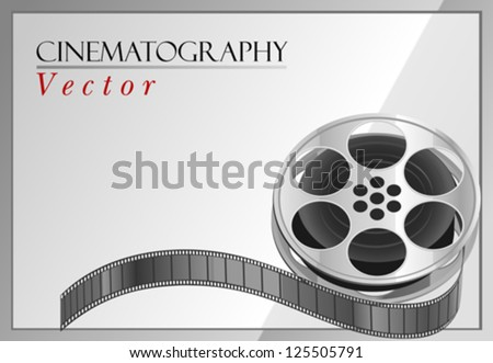 Movie Reel Background - stock vector