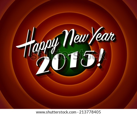 Movie still screen - Happy New Year 2015 - EPS10 - stock vector