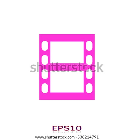 movie tape icon, vector illustration EPS 10