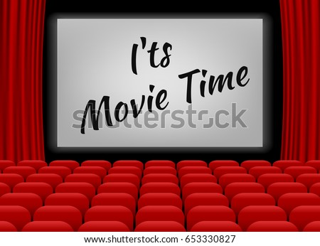 Movie theater row red seats premiere stock vector 653330827 movie theater with row of red seats premiere event template super show design its toneelgroepblik Choice Image