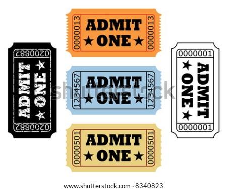 movie tickets - stock vector