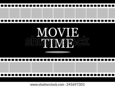 Movie Time Icon. Vector - stock vector