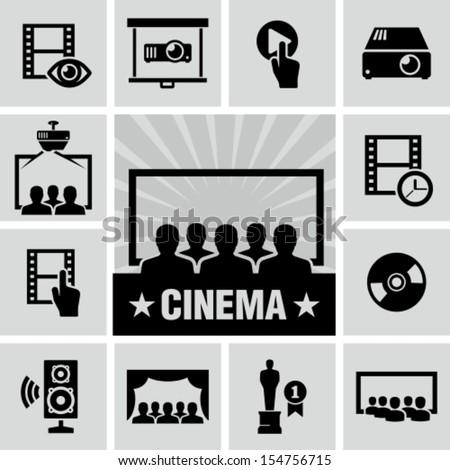 Movies icon - stock vector