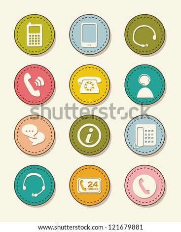 movil icons over vintage background. vector illustration - stock vector
