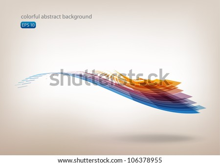 Moving colorful abstract background
