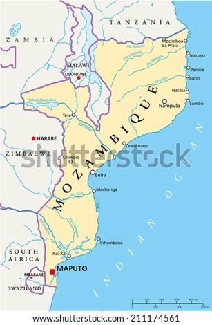 Belize Political Map Political Map Belize Stock Vector - Belize political map