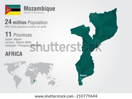 Mozambique world map pixel diamond texture stock vector 210779644 mozambique world map with a pixel diamond texture world geography gumiabroncs Image collections
