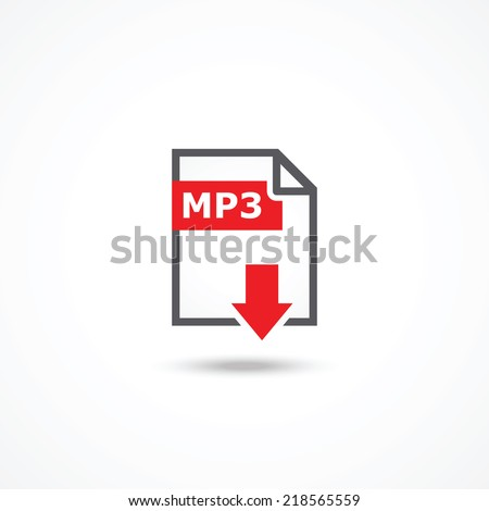 Mp3 download icon - stock vector