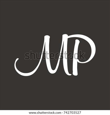 Mp logo initial letter design template stock vector 742703527 mp logo initial letter design template vector spiritdancerdesigns Images