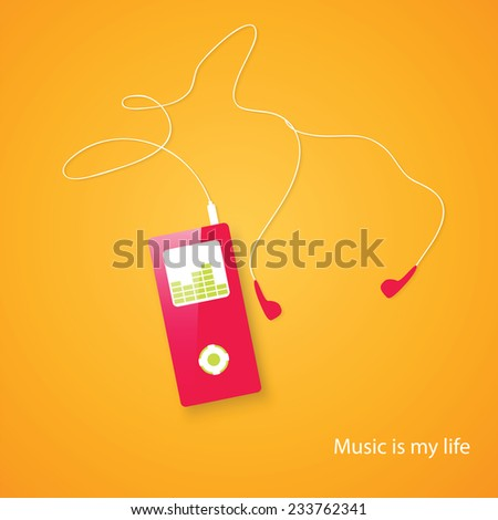 MP3 Music Player - Vector - stock vector