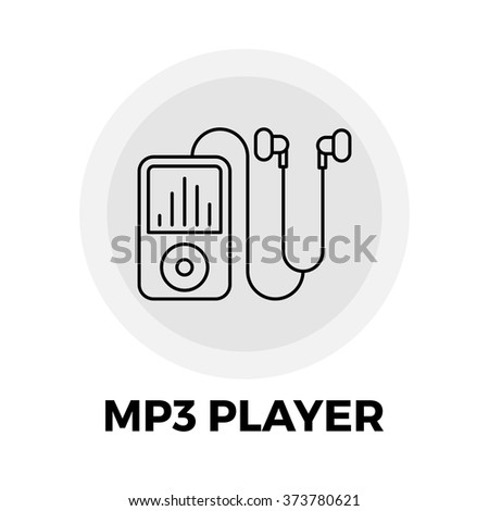 MP3 Player Icon Vector. MP3 Player Icon Flat. MP3 Player Icon Image. MP3 Player Icon Object. MP3 Player Line icon. MP3 Player Graphic. MP3 Player Icon JPEG. MP3 Player Icon JPG. MP3 Player Icon EPS. - stock vector