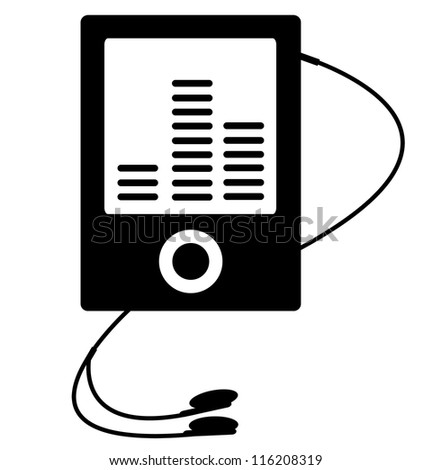 MP3 player Vector - stock vector